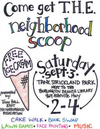Town Hall East Ice Cream Social this Saturday