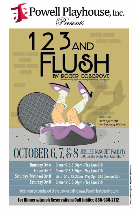 Powell Playhouse To Perform Comedy '1, 2, 3 And Flush' October 6-8