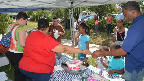 Residents get 'Neighborhood Scoop' at Tank Strickland Park