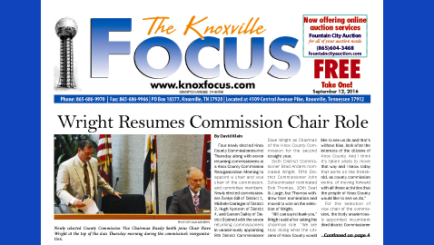 The Knoxville Focus for September 12, 2016