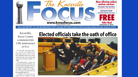 The Knoxville Focus for September 6, 2016