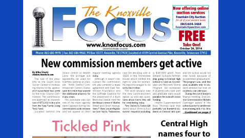 The Knoxville Focus for October 24, 2016