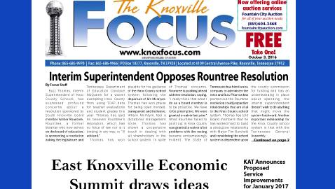 The Knoxville Focus for October 3, 2016