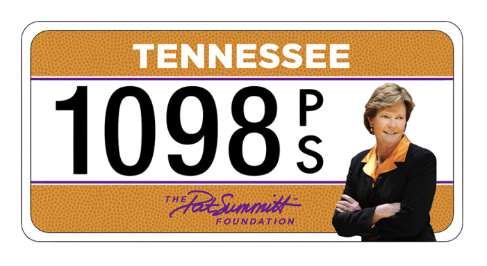 Pat Summitt Foundation Launches Specialty License Plate