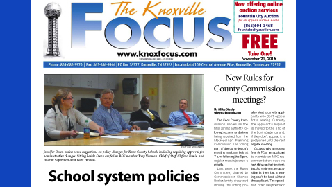 The Knoxville Focus for November 21, 2016