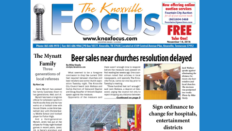 The Knoxville Focus for November 14, 2016