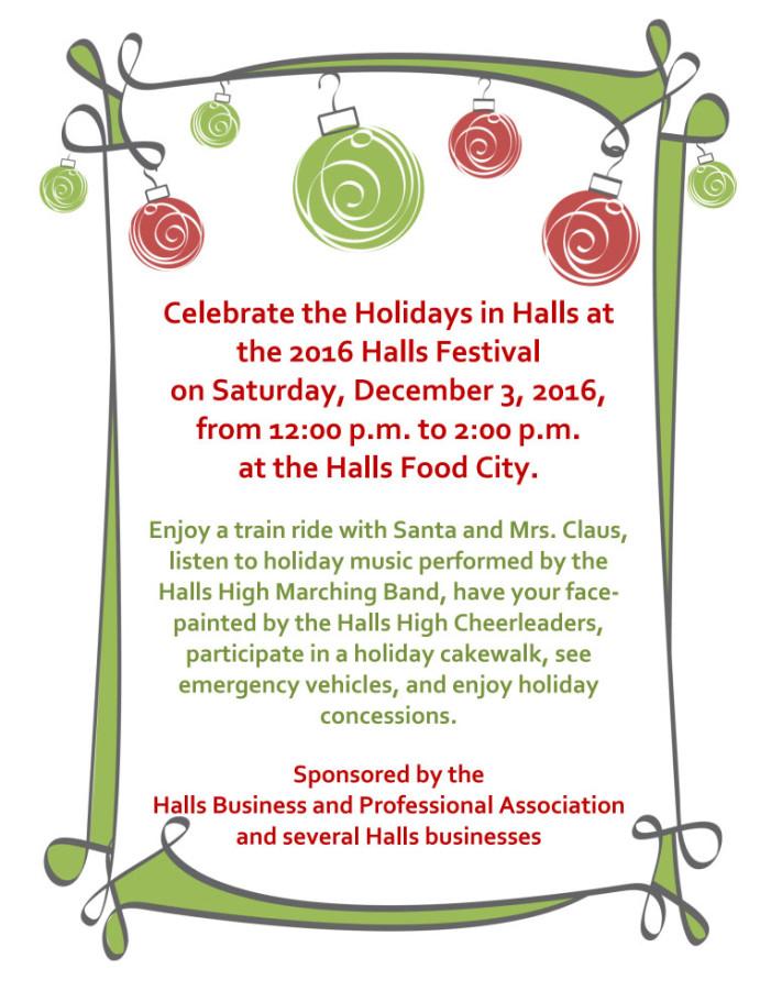 Holidays in Halls