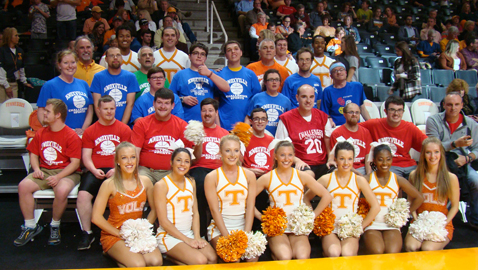 Challenger Sports teams entertain crowd and 'help' Vols, too