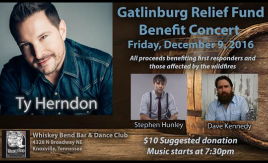 Gatlinburg Relief Concert to be held Friday