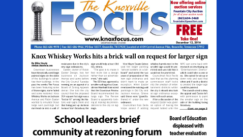 The Knoxville Focus for December 12, 2016