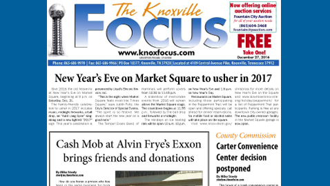 The Knoxville Focus for December 27, 2016