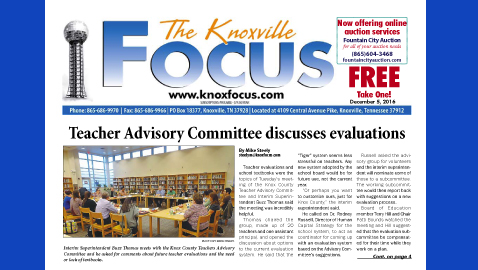 The Knoxville Focus for December 5, 2016