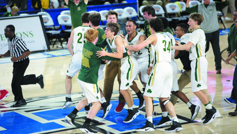 Catholic gives Murphy Center a pinch of green in its chase for gold