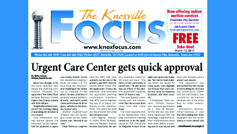 The Knoxville Focus for March 13, 2017