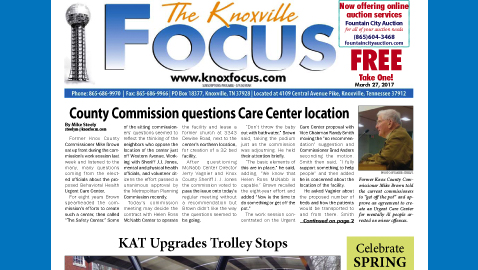 The Knoxville Focus for March 27, 2017