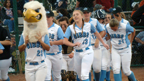 Gibbs wins 10th softball title