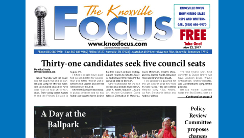 The Knoxville Focus for May 22, 2017