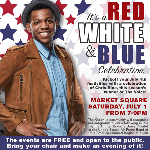 Congratulate Chris Blue, winner of The Voice, this Saturday