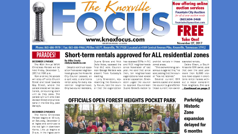 The Knoxville Focus for November 27, 2017