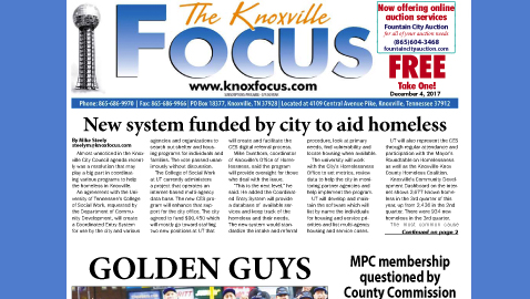 The Knoxville Focus for December 4, 2017