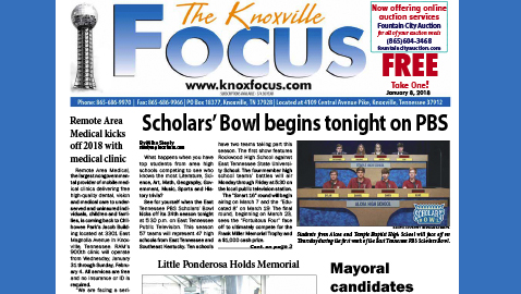 The Knoxville Focus for January 8, 2018