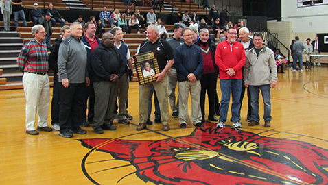 Alvah Bible, longtime FCA sponsor, honored by CHS