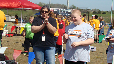 Blosser shares her love of sports as volunteer at Special Olympics