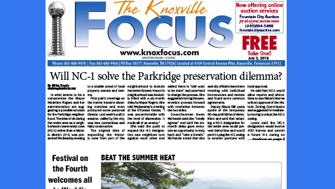 The Knoxville Focus for July 2, 2018