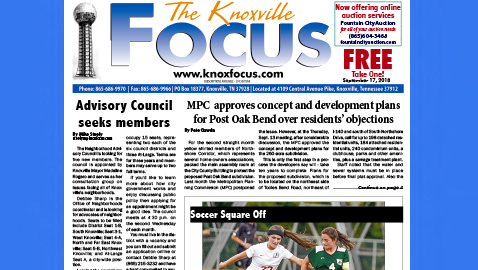 The Knoxville Focus for September 17, 2018