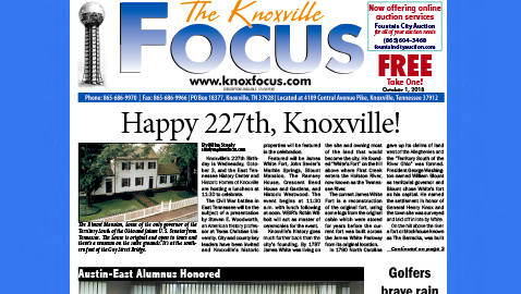 The Knoxville Focus for October 1, 2018