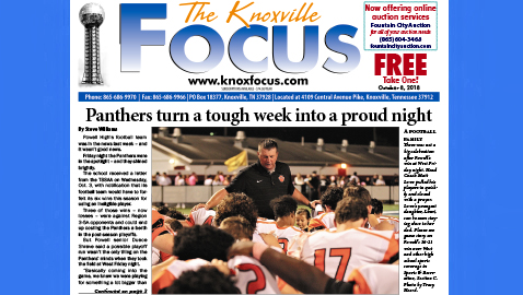 The Knoxville Focus for October 8, 2018