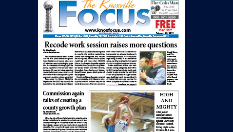 The Knoxville Focus for February 25, 2019