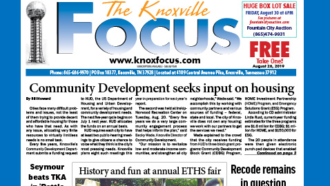 The Knoxville Focus for the week of August 26, 2019