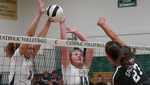 Catholic sweeps rival Webb at home 25-10, 25-20