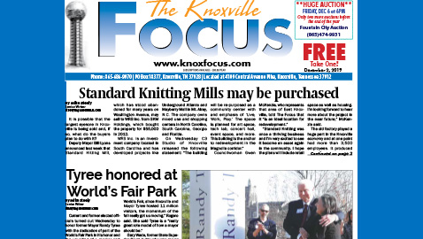 The Knoxville Focus for December 2, 2019