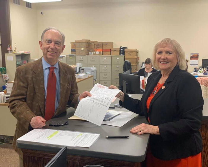 Massey picks up petition for re-election