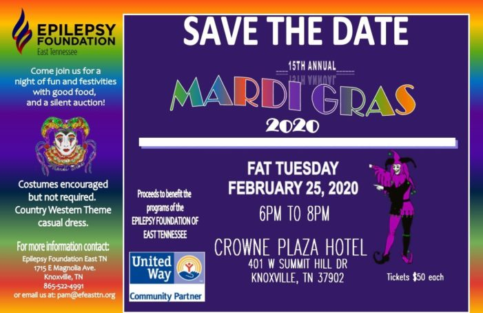 Epilepsy Foundation East TN holding annual Fat Tuesday fundraiser