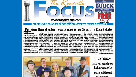 The Knoxville Focus for March 2, 2020