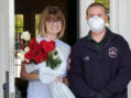 911 Knox Decon Services delivers flowers to elderly