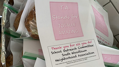 Neighborhood group bakes treats for teachers