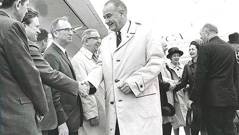 President Lyndon Johnson Comes to Knoxville