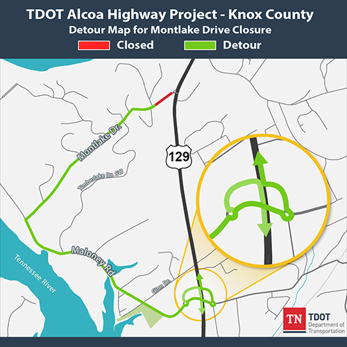 TDOT Knox County Traffic Alert: Upcoming Alcoa Highway closure