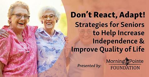 Morning Pointe Foundation presents virtual seminar on Senior Fall Prevention