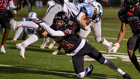 Central starts slow, storms back to defeat Gibbs, 34-23