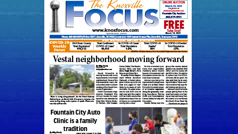 The Knoxville Focus for March 15, 2021