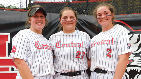 Central softball honors Hurd in a special way